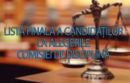 Lista finala a candidatilor la alegerile Comisiei de Disciplina din cadrul Colegiului Medicilor Iași