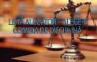 LISTĂ ALEGĂTORI – ALEGERI COMISIA DE DISCIPLINĂ