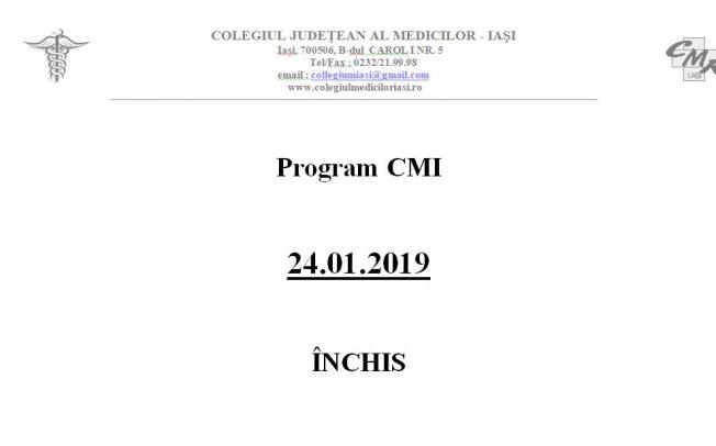 Program 24.01.2019 – INCHIS