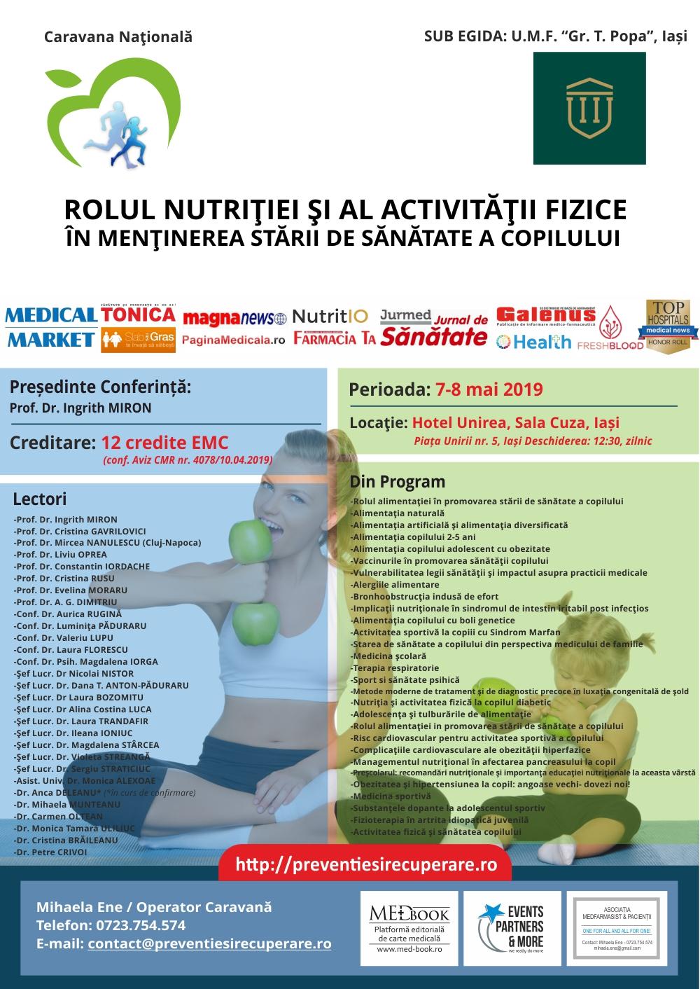 Curs – Rolul nutritiei si al activitatii fizice in mentinerea starii de sanatate a copilului