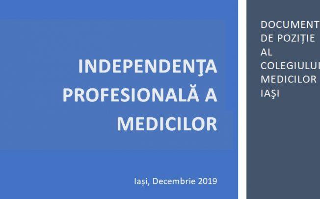 Independenta profesionala a medicilor