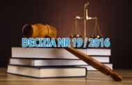 Decizia Nr 19/2016