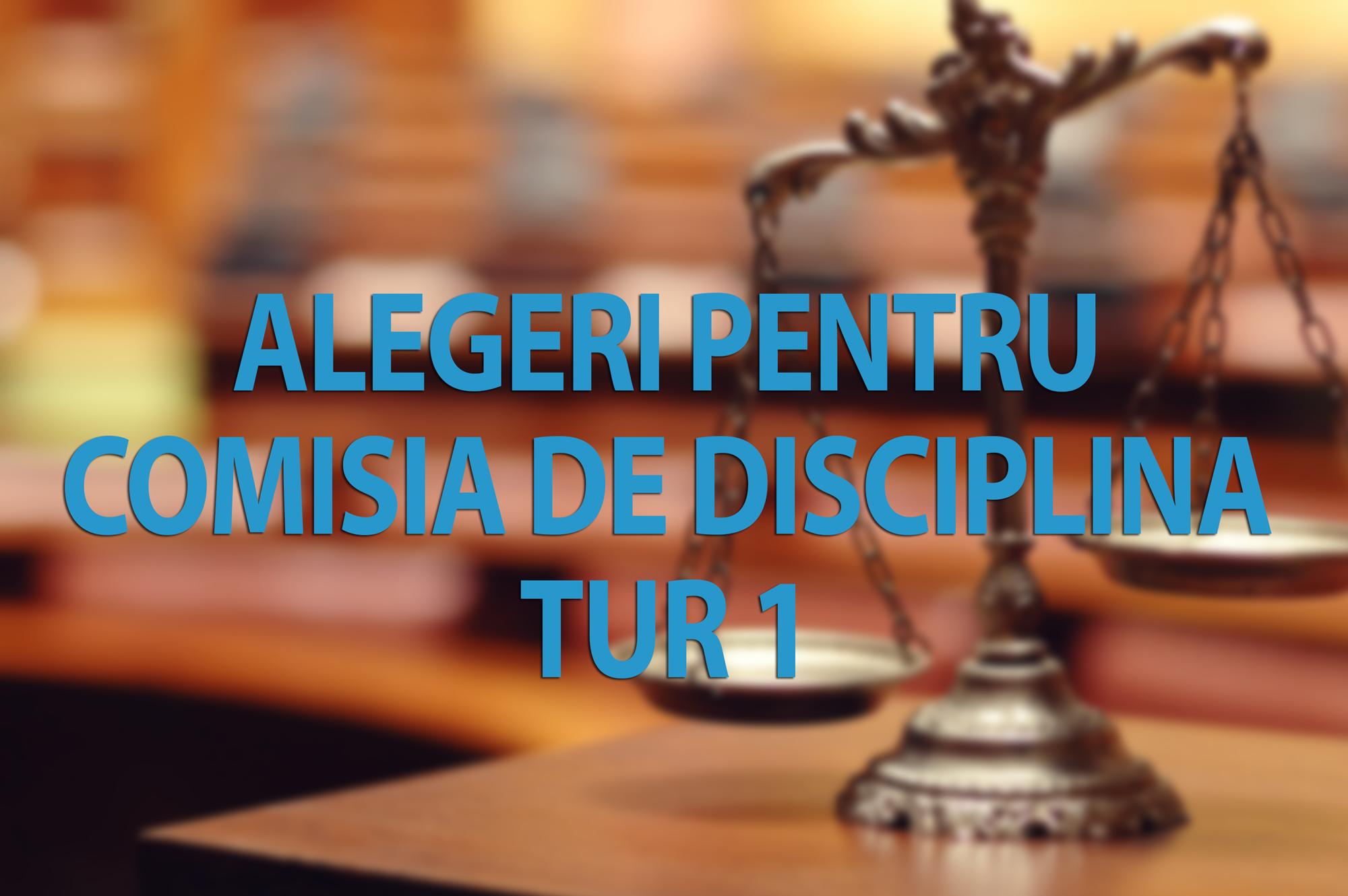 Anunt – Alegeri pentru Comisia de Disciplina