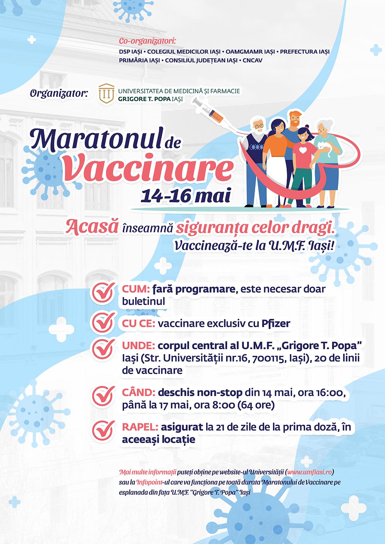 "Maraton de vaccinare la UMF ""Gr. T. Popa"" Iași"
